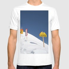 Signs Of Danger MEDIUM Mens Fitted Tee White