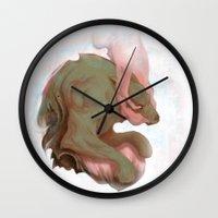 pain Wall Clocks featuring Pain by DockalGanger