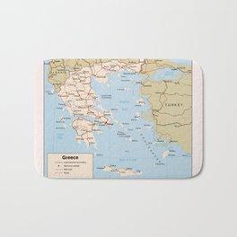 Map of Greece (1984) Bath Mat