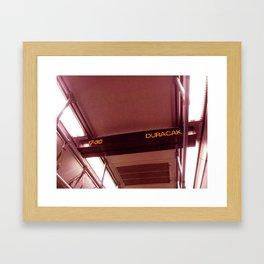 The Train's Gonna Stop Framed Art Print