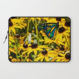 Surreal Monarch on Flowers Laptop Sleeve