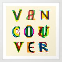 vancouver Art Prints featuring Vancouver by Fimbis