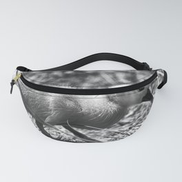 Yellow Duckling - Black & White Fanny Pack