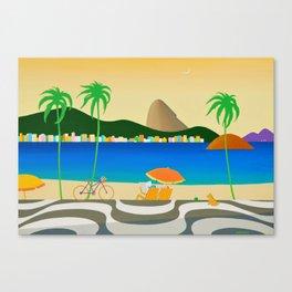 COPACABANA SIDEWALK Canvas Print