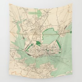 Vintage Map of Portland ME (1906) Wall Tapestry