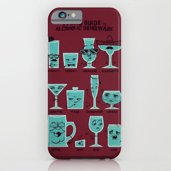 Field Guide to Alcoholic Drinkware iPhone & iPod Case