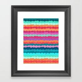 Brite Stripe Framed Art Print