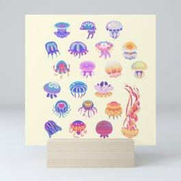 Jellyfish Day - pastel Mini Art Print