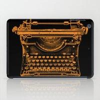 typewriter iPad Cases featuring Typewriter by Jessica Slater Design & Illustration