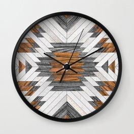 Urban Tribal Pattern 8 - Aztec - Wood Wall Clock