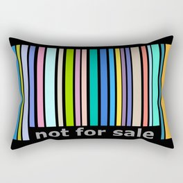 Not For Sale Barcode - Colorful Rectangular Pillow