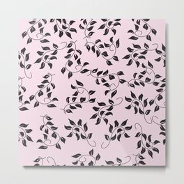 Peite Purple Floral Metal Print