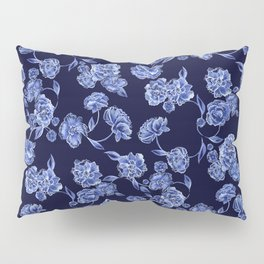 Porcelain Floral Pillow Sham