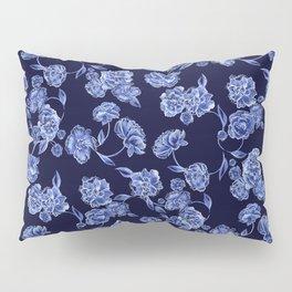 Porcelain Floral Pillow Sham
