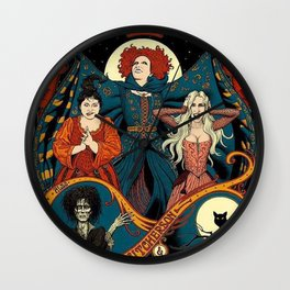 Sanderson Sisters Vintage Tour Poster Wall Clock