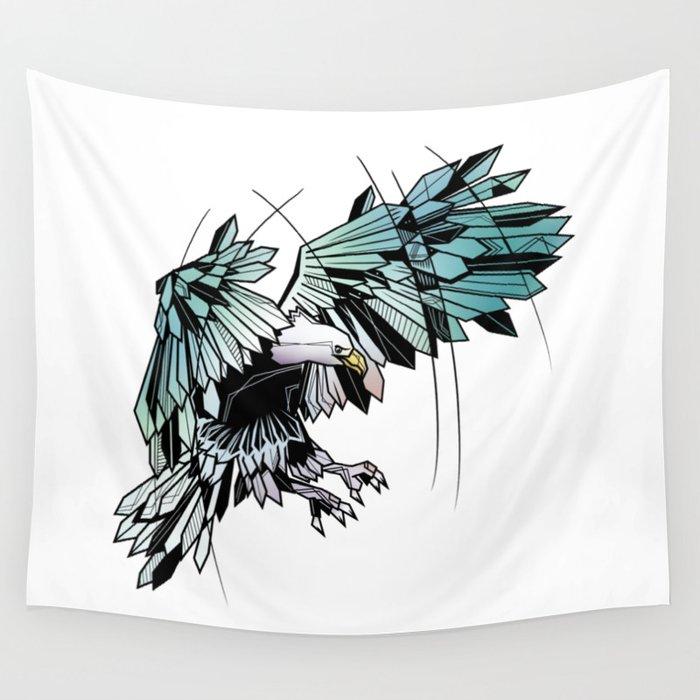 Geometric eagle Wall Tapestry