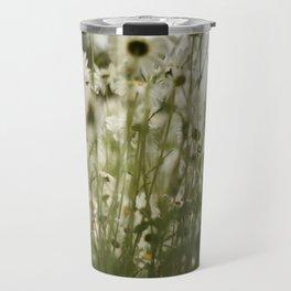 white daisies :) Travel Mug