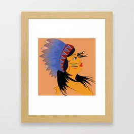 Away with the wind Framed Art Print