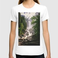 yosemite T-shirts featuring Yosemite Waterfall by Loaded Light Photography