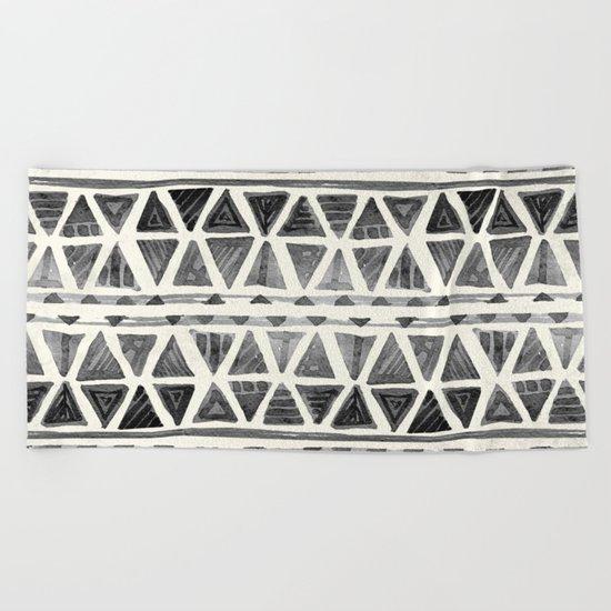Tribal Geometric Chevron Stripes Beach Towel
