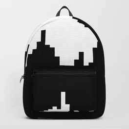 Skyline black and white abstract pattern Backpack