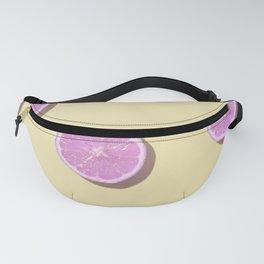 Violet lemons in yellow Fanny Pack