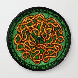 quozarrah jungle serpent mandala Wall Clock