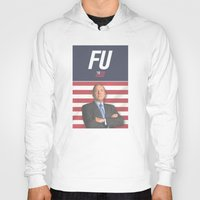 house of cards Hoodies featuring House of Cards / Campaign Poster I by Earl of Grey
