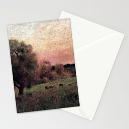 George Inness Cows in a Field Stationery Cards