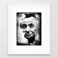 lincoln Framed Art Prints featuring Lincoln by 6-4-3