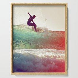 Danse avec les vagues Serving Tray