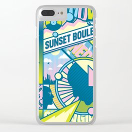 Sunset Boulevard Hustle Clear iPhone Case