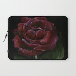 Flower, red rose, gothic beauti Laptop Sleeve