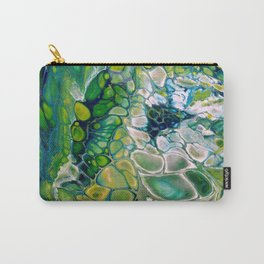 Green Abstract - Fluid Acrylic Unique pour Carry-All Pouch