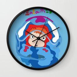 gake no ue no ponyo Wall Clock