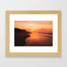Sun Down Framed Art Print