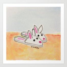 Bunnie Hop Art Print