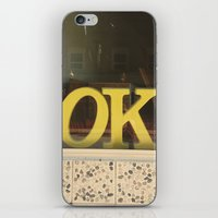kim sy ok iPhone & iPod Skins featuring OK by Michelle & Chris Gerard