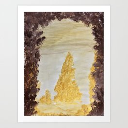 Golden secluded forest Art Print