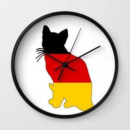 German Flag - Cat Wall Clock