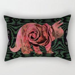 Vintage Rose 1960s Pink Dinosaur Print Rectangular Pillow