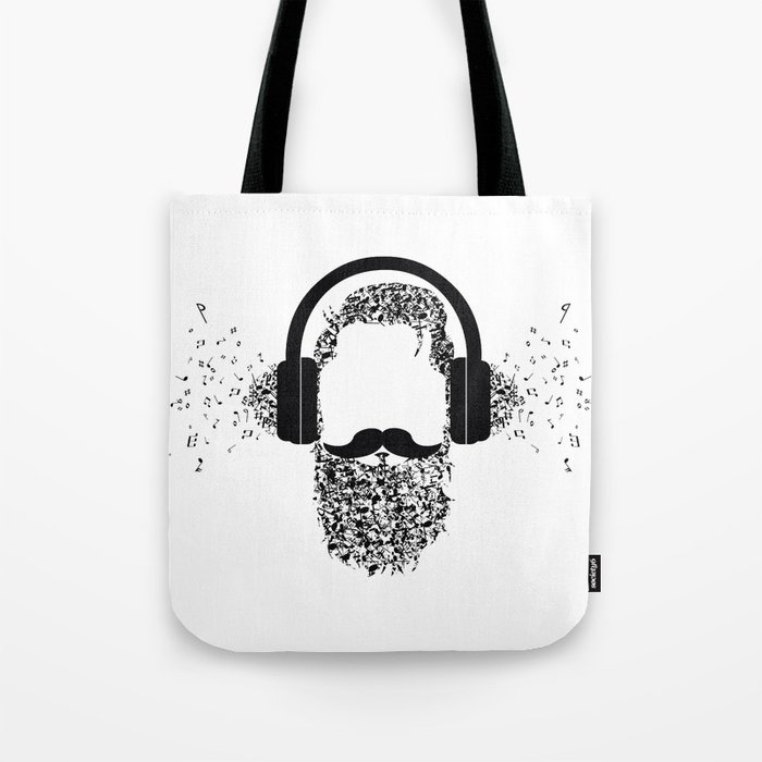 Beard The Music Tote Bag By Edgomes