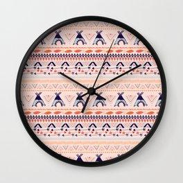 Teepee + Arrow Pattern Wall Clock