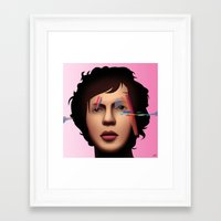 cassia beck Framed Art Prints featuring Beck (Sea Change) by AdamSteve