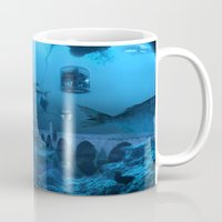 submarine Mugs featuring Submarine by Misko Stanisic