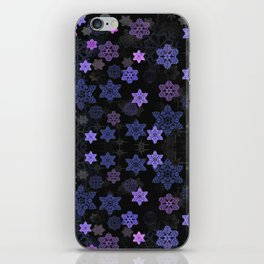 Christmas Snowflakes at Night iPhone Skin