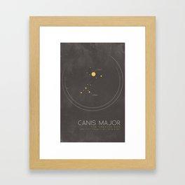 Canis Major - The Greater Dog Constellation Framed Art Print
