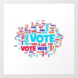 Vote USA 2016 Art Print
