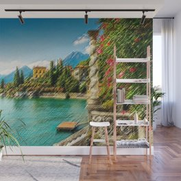 Lake Como, Italy Landscape Painting by Jeanpaul Ferro Wall Mural