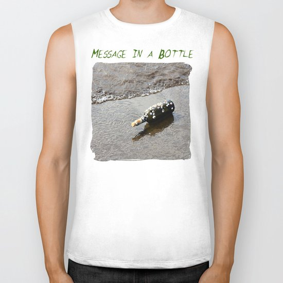 Message in a Bottle Biker Tank